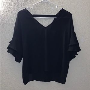 Blouse with Tiered Sleeves